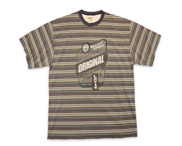 Vintage 90s Levis Striped T-Shirt | REVIVAL Clothing