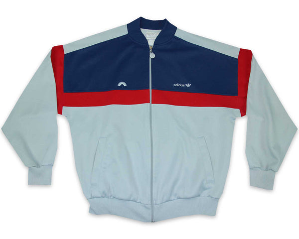 Vintage 80s Adidas Rainbow Track Jacket | REVIVAL Clothing