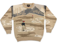 90s Golf All Over Pattern Vintage Sweater