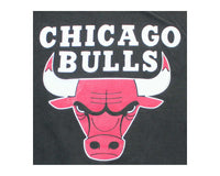 Vintage 90s Chicago Bulls Faded T-Shirt Detail