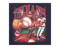 90's Cleveland Indians Big Hit Vintage Baseball T-Shirt