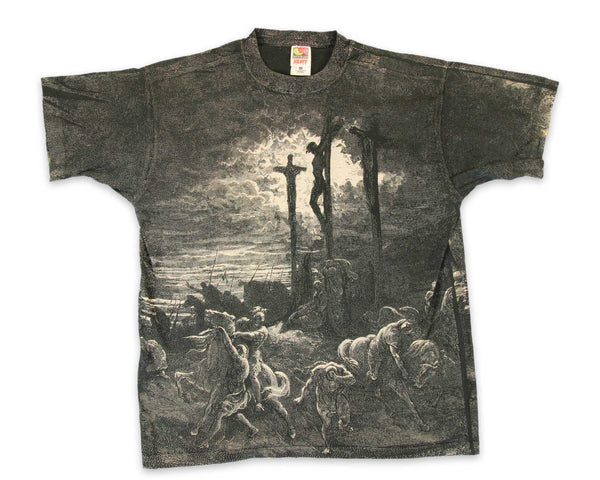 Vintage 90s Jesus Christ Crucifixion All Over Print T-Shirt │ yoREVIVAL Clothing