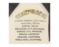 Vintage 80s Grateful Dead Concert Tour T-Shirt Detail