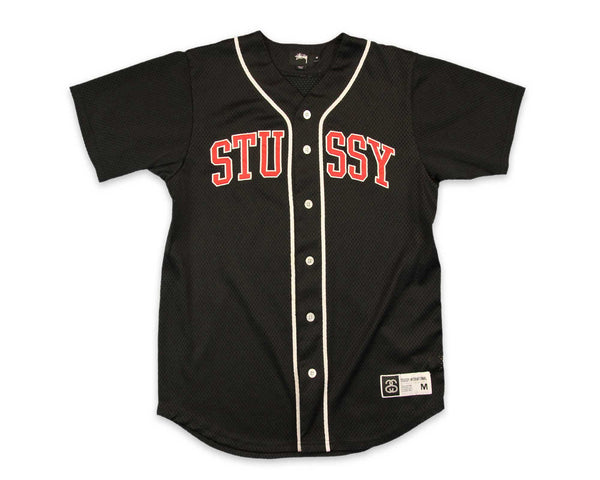 Men's Stussy Black Baseball Jersey | REVIVAL Clothing