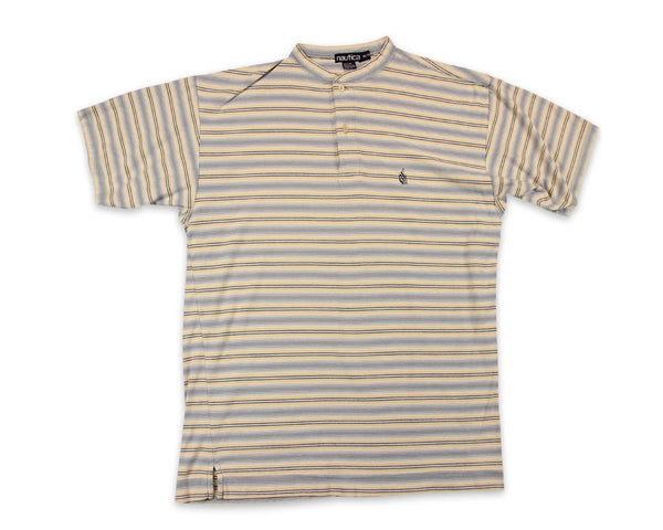 Vintage 90s Nautica Striped Henley T-Shirt | REVIVAL Clothing