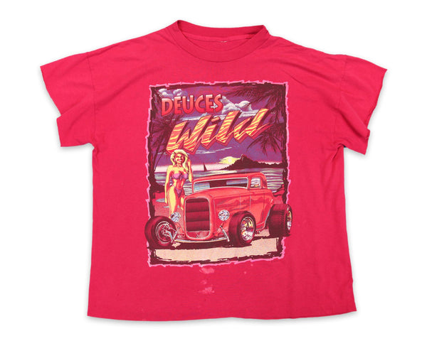 90s Deuces Wild Hot Rod Vintage T-Shirt