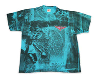 Vintage 90s Nike Flight Basketball Pattern T Shirt | REVIVAL Clothing
