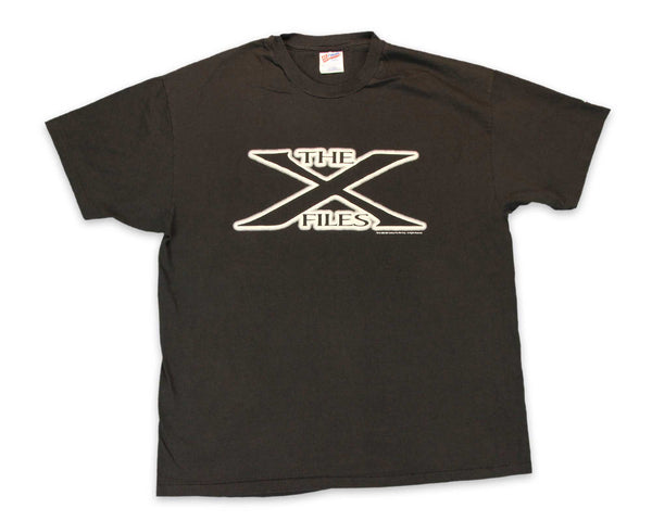 Vintage 90s X-Files Original Logo Glow in the Dark T-Shirt