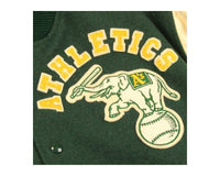 90s Oakland Athletics Chalk Line Varsity Jacket | REVIVAL Clothing