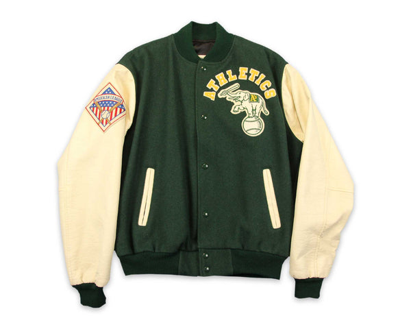 Vintage 90s Oakland A's Varsity Jacket | REVIVAL Clothing