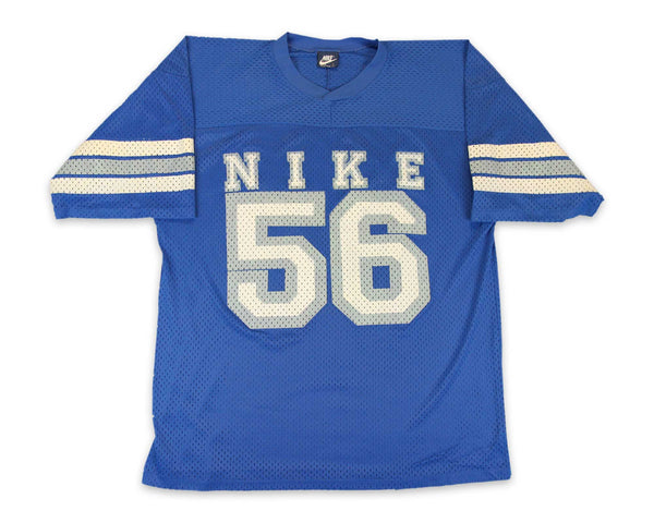 80s Nike Blue Tag Rare Mesh Football Jersey Tee