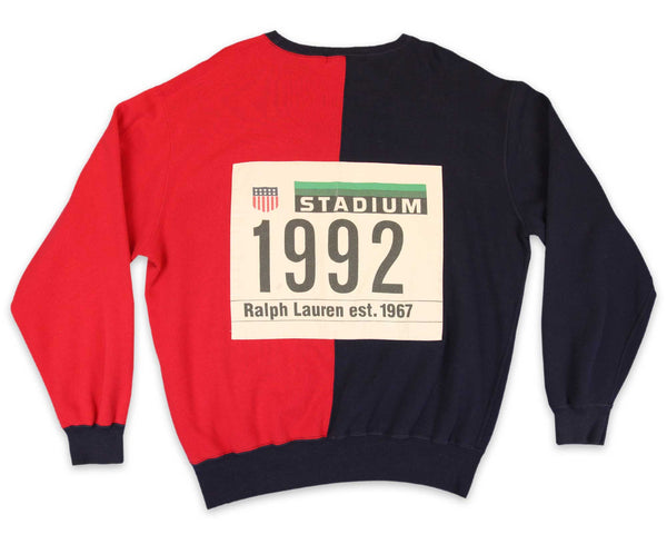 Vintage 90s Polo Ralph Lauren 1992 Stadium Sweatshirt | REVIVAL Clothing