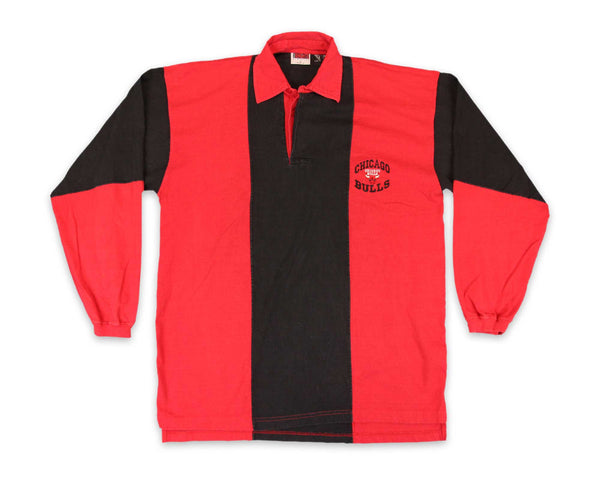 Vintage 90s Chicago Bulls Rugby Polo Shirt | REVIVAL Clothing