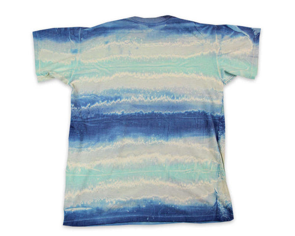 Vintage 90s Single Stitch Sleeve and Clothing Label on a Tie Dye T-Shirt