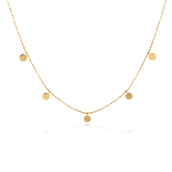 collar medallas oro amarillo 18k de rhapsody jewels