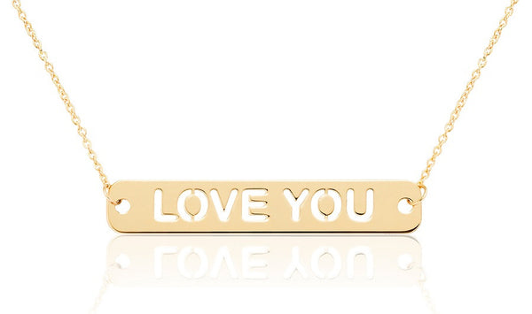 COLLAR ORO 18k LOVE YOU