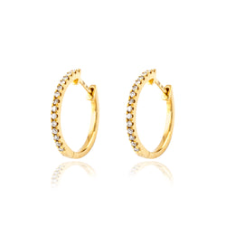 Criolla en Oro Amarillo de 750/1000 (18Kilates) con 0,11CT de diamantes de Rhapsody Jewels