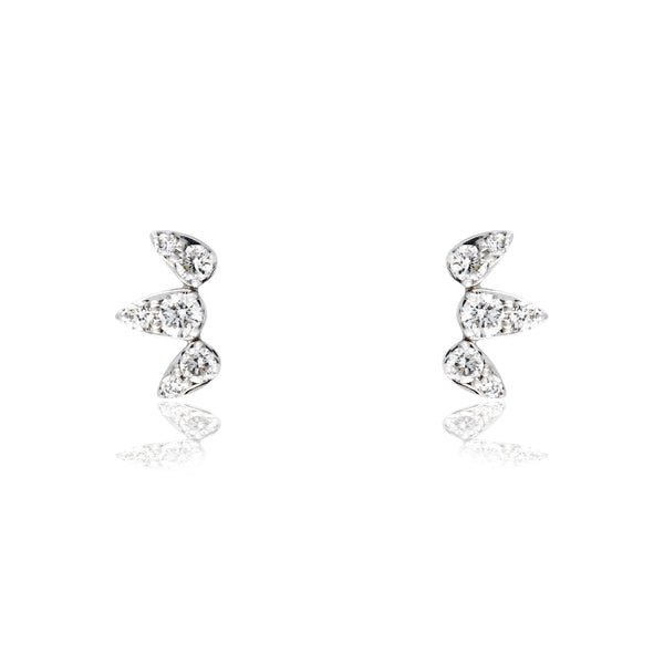 Pendientes oro y diamantes 0.35ct de Rhapsody Jewels
