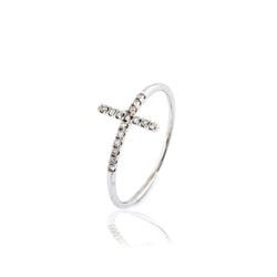 ANILLO CRUZ DIAMANTES