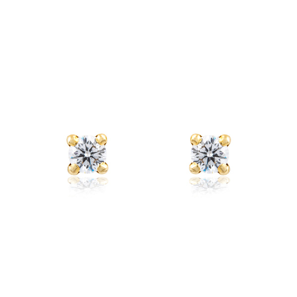 Pendientes de oro amarillo de 18 kilates de Rhapsody Jewels
