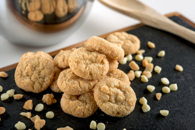 Gulf Breeze Middle - Classic Minis - White Chocolate Macadamia Pre-Baked Cookies