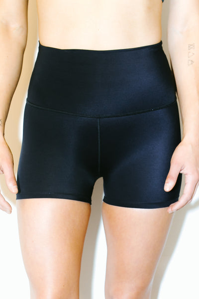 High Waisted Shorts in Black