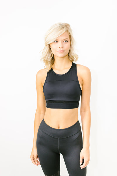 Petta Crop Top in Jet Core