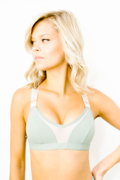 New Beginnings Bralette in Mint