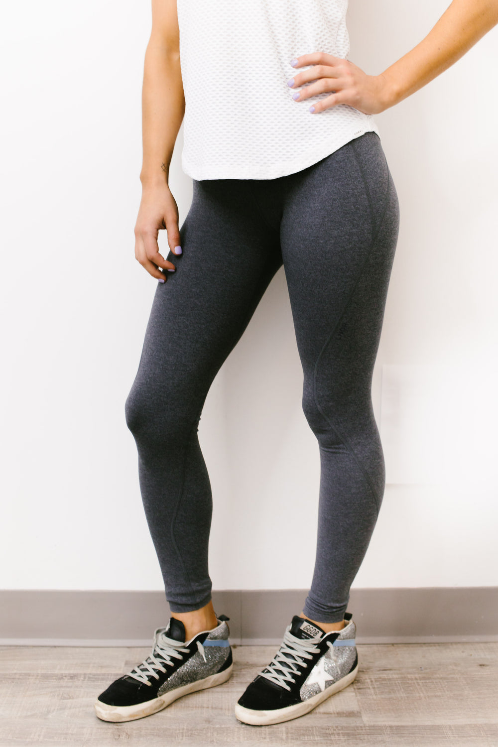 Limitless Full Length Legging in Grey Marl