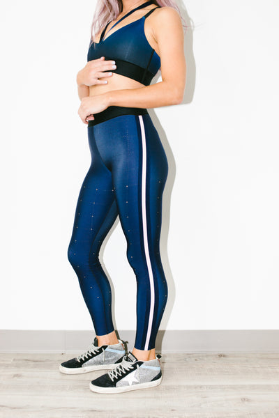 Ultra Quiltline Legging in Indigo