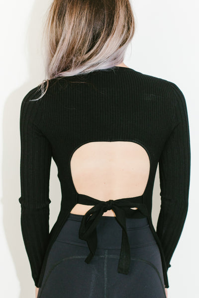 Open Back Knit in Black