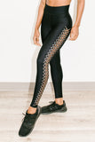 Ultra High Interlace Pixelate Legging in Nero Brushed Rose