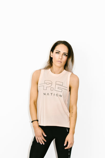 Spike Tank in Nude Pink
