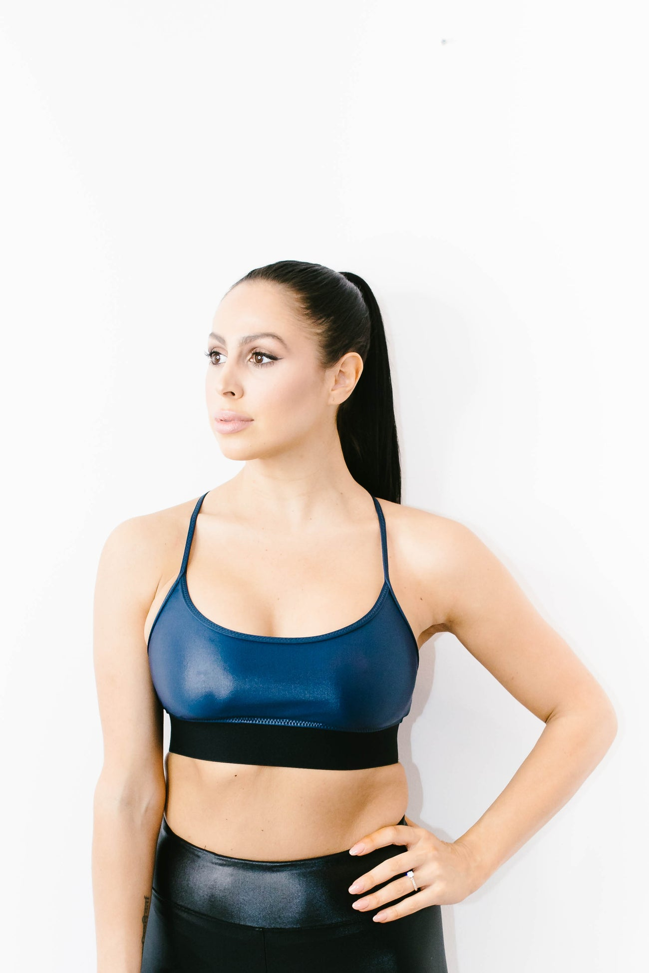 Sweeper Sports Bra in Midnight Blue