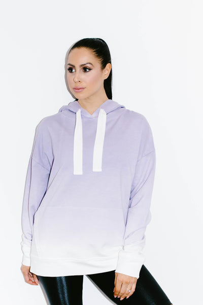 Ombre Hoodie in Lilac