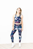 Royal Tie Dye Yoga Pant