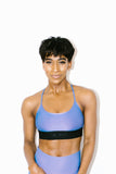 Sweeper Iridescent Sports Bra in Auralite