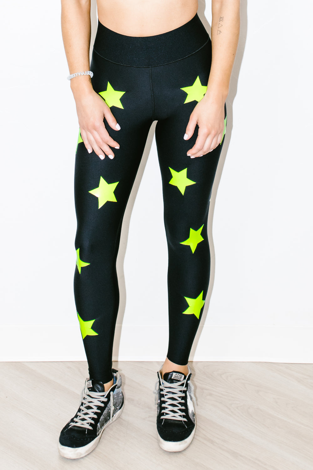 Ultra High Knock Out Legging Nero Neon Yellow