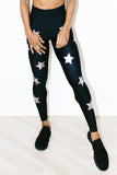 Ultra High Knock Out Legging Nero Metallic Rose