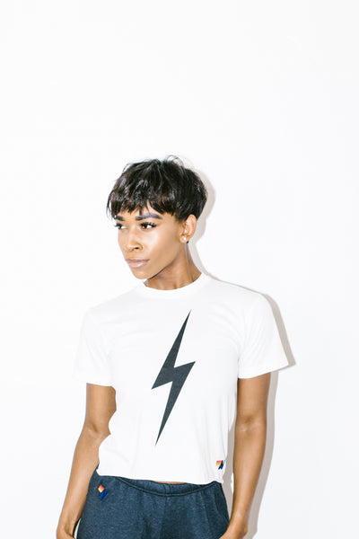 Bolt Boyfriend Tee in White