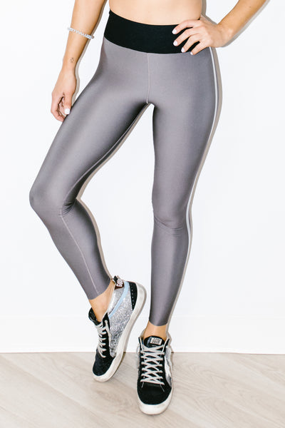 Ultra High Parallel Legging Taupe Chameleon Silver