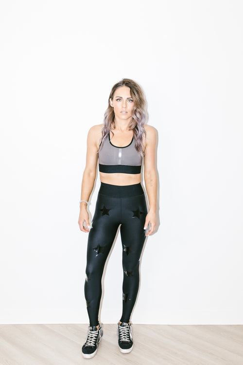 Ultra High Knock Out Legging Nero Patent Nero