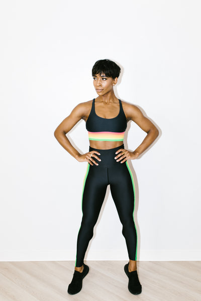 Jade Legging in Neon Stripes