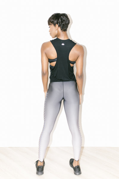 Ultra High Interlace Legging Lavender Holograph