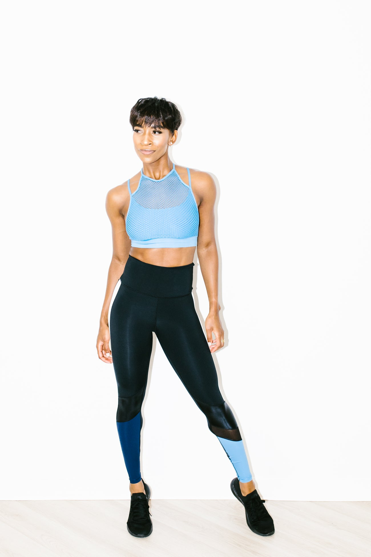 High Waisted Freestyle Tight in Azure