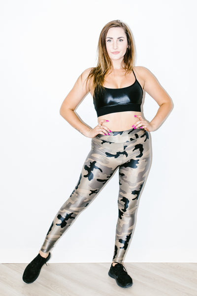 Lustrous High Rise Legging in Camouflage
