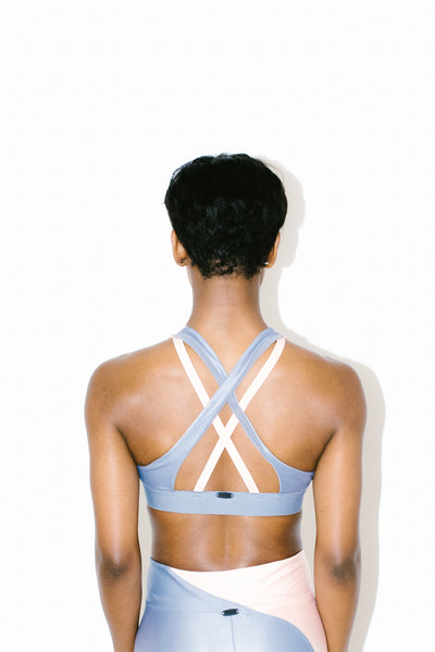 Endpoint Energy Sports Bra in Rose Quartz/Hematite