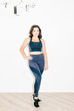 Launch Legging in Light Blue Marl