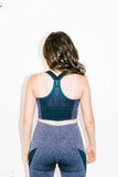 Rocket Sports Bra in Light Blue Marl