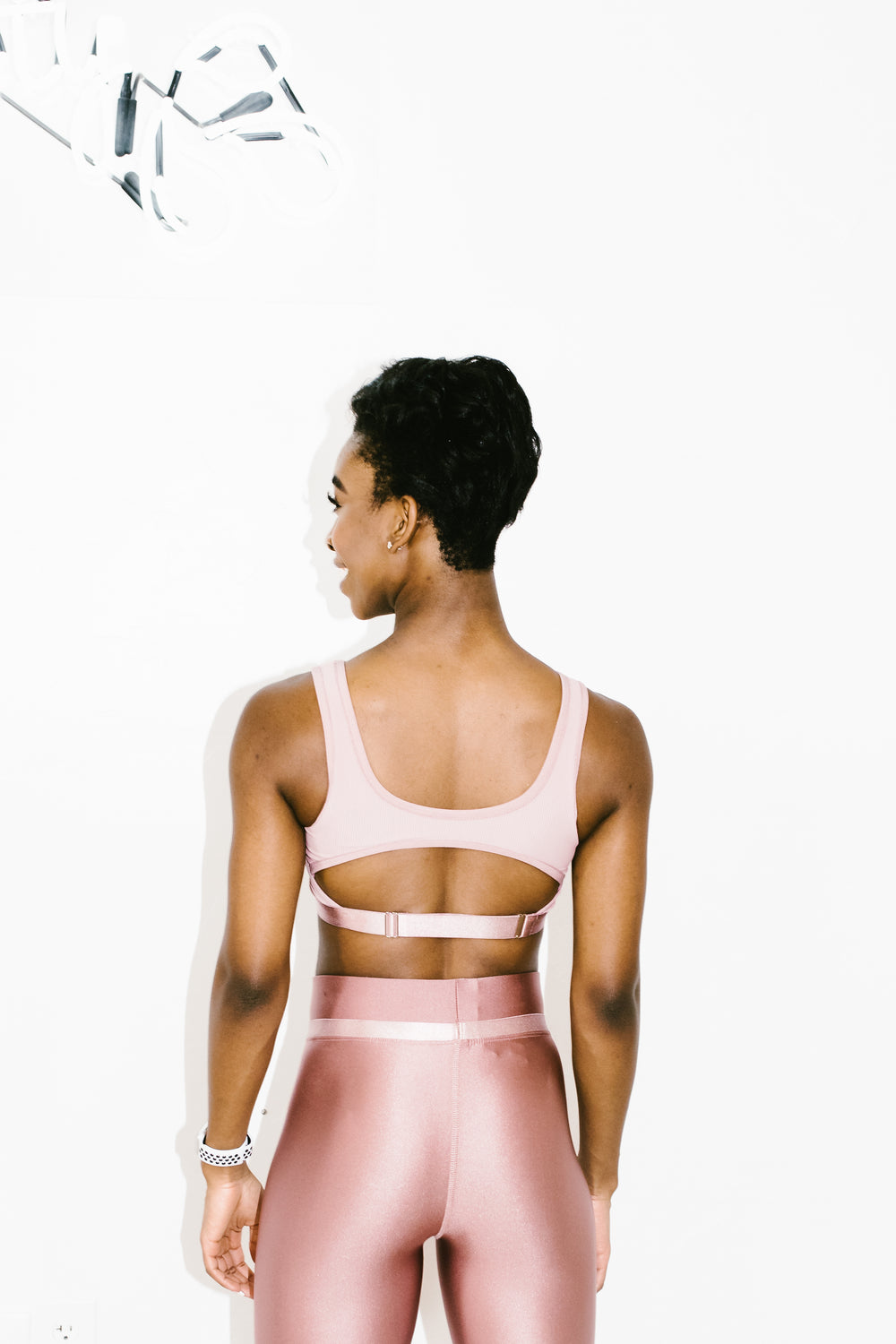 Crescent Bra in Chrome Blush Rib